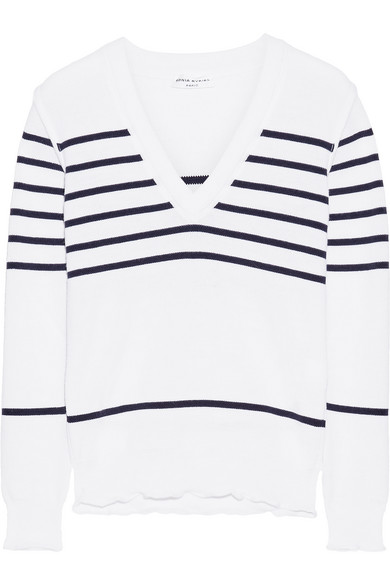 Sonia Rykiel - Striped Knitted Sweater - White