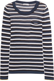 Sonia Rykiel Striped silk and cotton-blend top