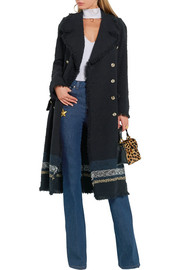 Sonia Rykiel Striped bouclé-tweed coat