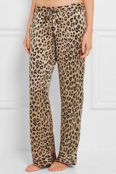 b88faffdc2 Avery leopard-print washed-silk pajama pants