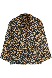 Kate Moss for Equipment Lake leopard-print washed-silk pajama shirt
