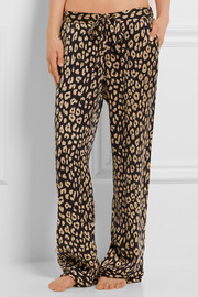 Kate Moss for Equipment Avery leopard-print washed-silk pajama pants