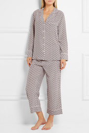 Landon printed washed-silk pajama set