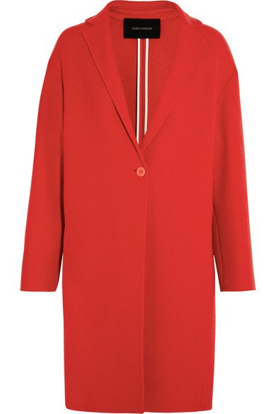 Cédric Charlier - Boiled Wool Coat - Red