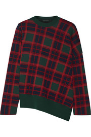 Cédric Charlier Plaid wool sweater