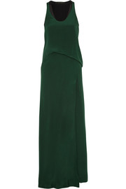Cédric Charlier Silk crepe de chine maxi dress