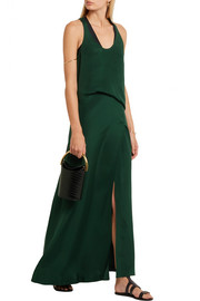 Silk crepe de chine maxi dress