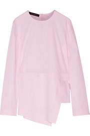 Cédric Charlier Asymmetric cotton-poplin top
