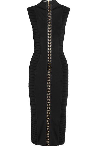 1e2ed128 Balmain | Ribbed stretch-knit midi dress | NET-A-PORTER.COM