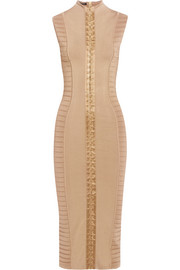 Balmain Ribbed stretch-knit midi dress