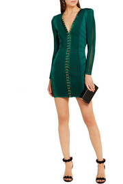 Ribbed stretch-knit mini dress
