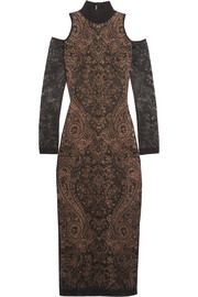 Balmain Cutout lace midi dress