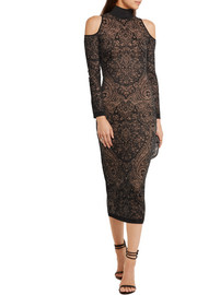 Cutout lace midi dress