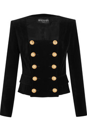 Balmain Double-breasted velvet jacket