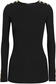 Balmain Embellished wool and cashmere-blend sweater