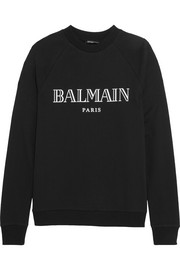 Balmain Printed cotton-jersey sweatshirt