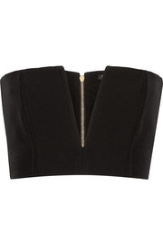 Balmain Cropped crepe top