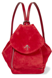 Manu Atelier Fernweh mini leather-trimmed suede backpack