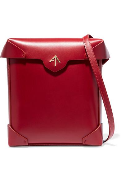 Pristine Micro Leather Shoulder Bag, Red