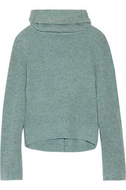 Toga Ribbed wool turtleneck sweater
