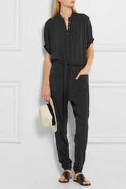Perséphone knitted jersey-crepe jumpsuit