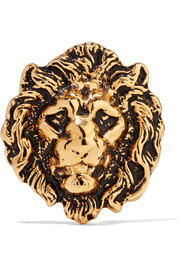 Burnished gold-tone brooch