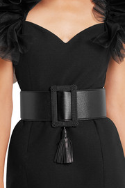 Saint Laurent Tasseled leather waist belt