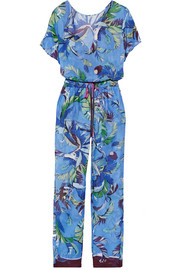 Printed cotton-voile jumpsuit