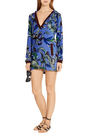 Emilio Pucci Printed cotton-terry tunic