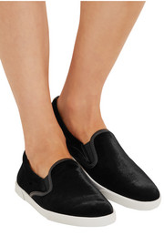 Jimmy Choo Velvet slip-on sneakers