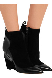 Jimmy Choo Damsen leather and suede wedge ankle boots