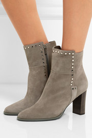 Jimmy Choo Harlow embellished suede ankle boots