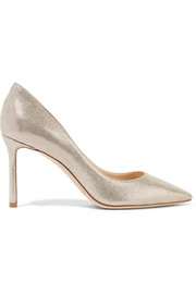 Jimmy Choo Romy metallic printed leather pumps