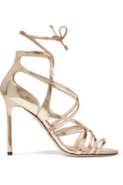 Jimmy Choo Tess metallic leather sandals
