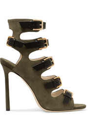 Jimmy Choo Trick suede and leather sandals