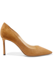 Jimmy Choo Romy suede point-toe pumps