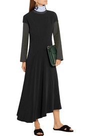 Marni Asymmetric stretch-crepe dress