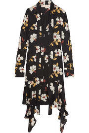 Floral-print silk-georgette midi dress