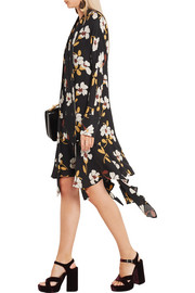 Marni Floral-print silk-georgette midi dress