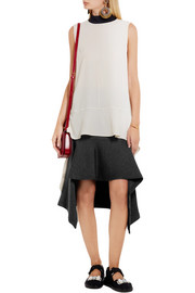 Marni Double-faced wool-blend jersey skirt