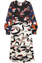 MSGM Printed crepe dress