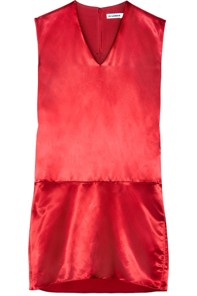 Jil Sander - Satin Dress - Red