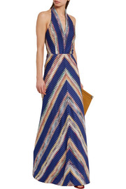 Missoni Crochet-knit halterneck maxi dress