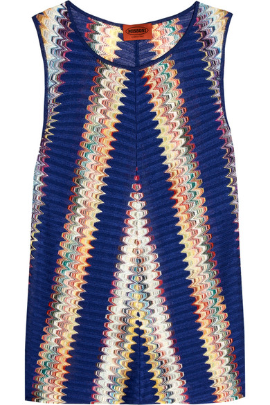 Missoni - Crochet-knit Tank - Blue