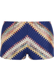 Crochet-knit shorts