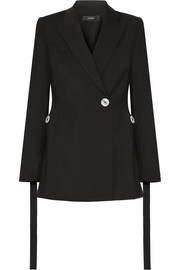 Gene button-embellished stretch-crepe blazer