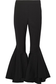 Sinuous cropped stretch-crepe flared pants