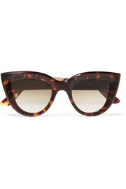 Quixote cat-eye acetate and gold-tone sunglasses