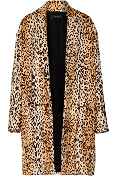 Ellery - Mariel Leopard-print Goat Hair Coat - Leopard print
