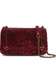 Bobi leopard-print suede shoulder bag